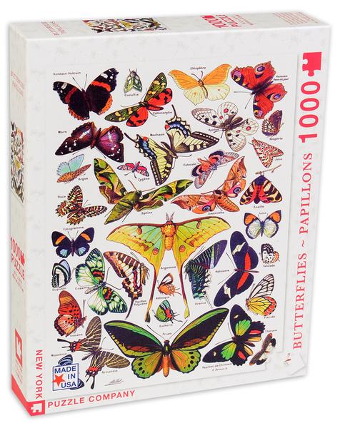 Пъзел New York Puzzle от 1000 части - Пеперуди