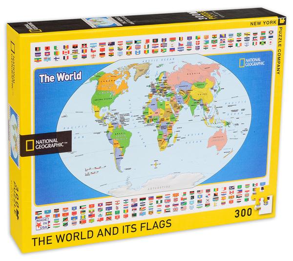 Пъзел New York Puzzle от 500 части - Детска карта на света