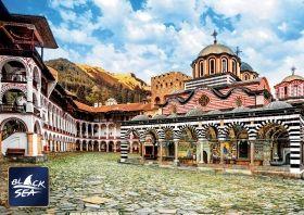Пъзел от 1000 части Black Sea Puzzles - Mанастир Свети Иван Рилски, Божидар Чоторов