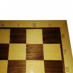 Дъска за шах мат с естествен фурнир бук и орех MDF