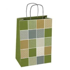 Подаръчна торбичка, квадрати, размер L