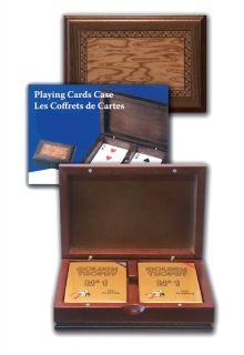 Кожена кутия с 2 тестета карти Modiano Golden Trophy