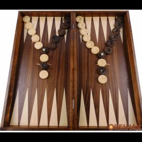 Комплект шах и табла Oreshak, ръчна изработка, 48x48 см