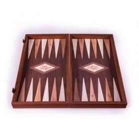 Табла за игра Manopoulos - Орех и маслиново дърво, 48x25 см