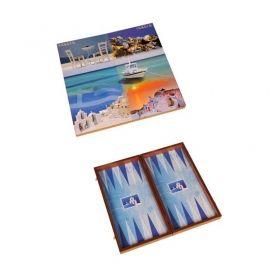 Табла за игра Manopoulos - Средиземноморски мотиви, 38x20 см