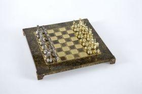 Луксозен шах комплект Manopoulos - Гръцко/Римски период, 28 х 28 см. кафяв