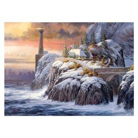 Пъзел от 1000 части Cobble Hill - Фар през зимата, Дъглас Лейрд